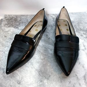 Boden Black Pointed Toe Loafers